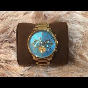 Michael Kors Turquoise Dial Gold-tone Ladies Watch